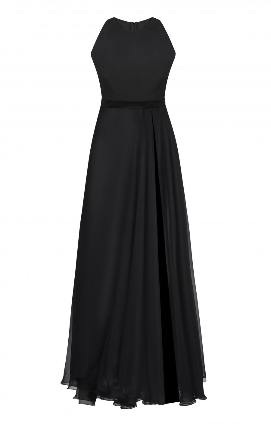 Чёрное платье  из шёлка
