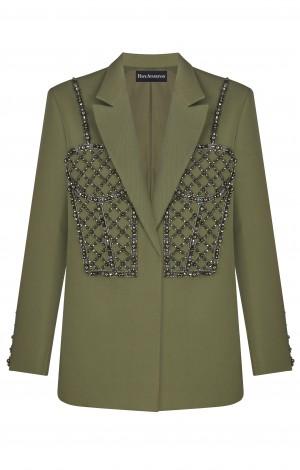 Пиджак с расшитым корсетом