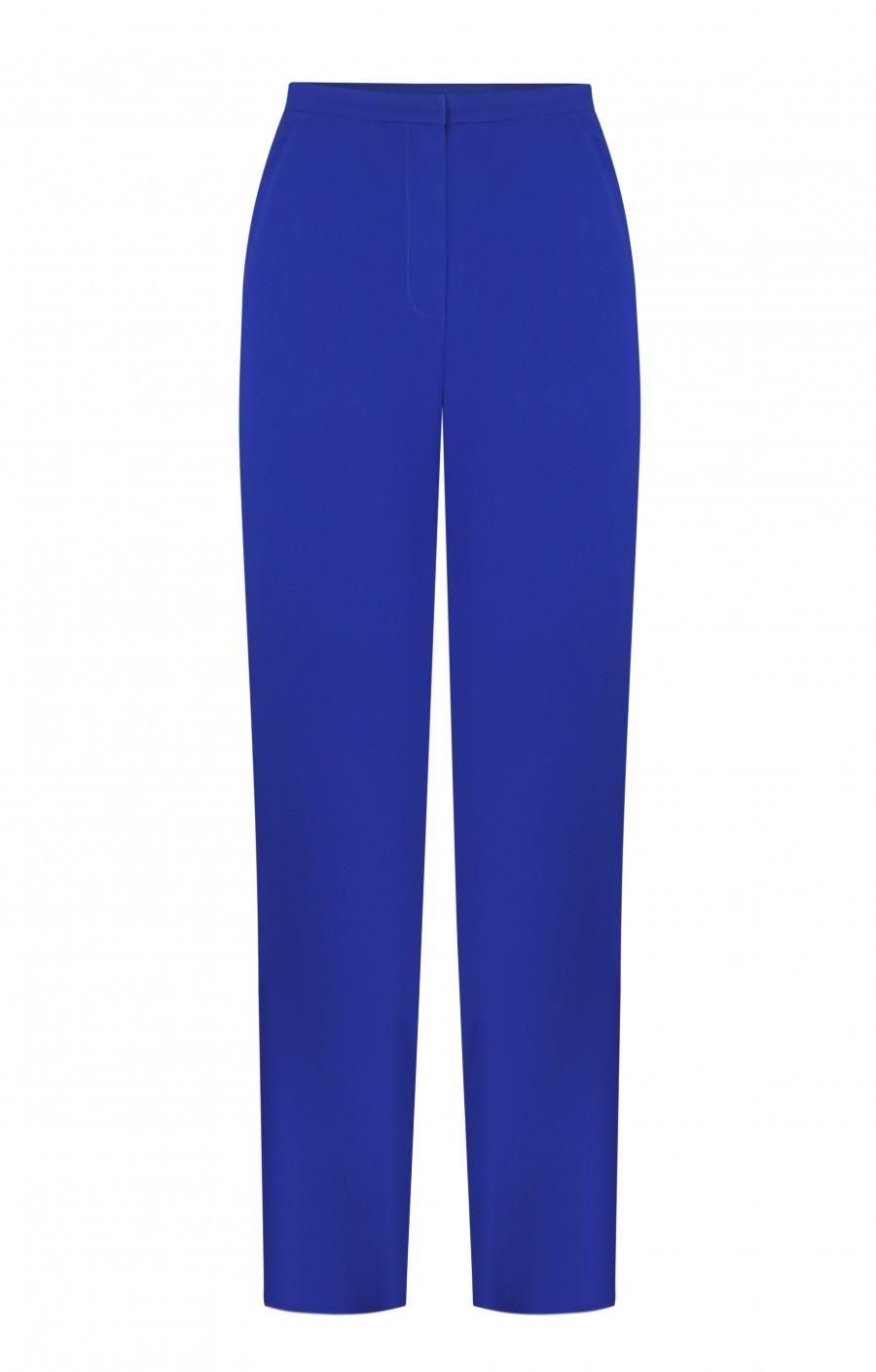 Синие брюки из крепа