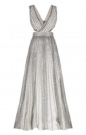 Свадебное платье расшитое вручную